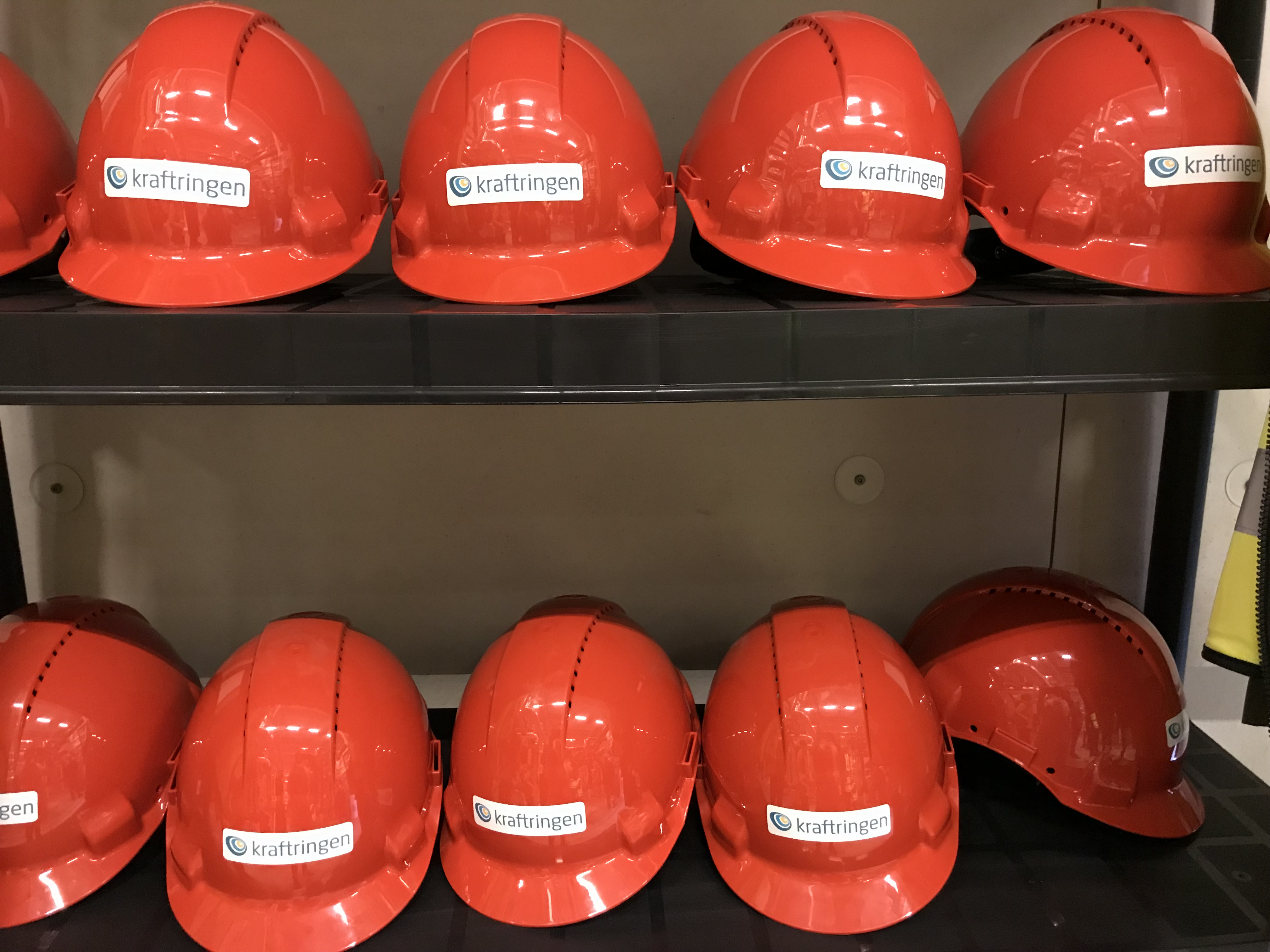 Kraftringen helmets at the energy central of the MAX IV Laboratory.