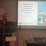 Gabriele Pesce from Euroheat & Power talking about COOL DH at a workshop in Brussels on 2 October 2019.