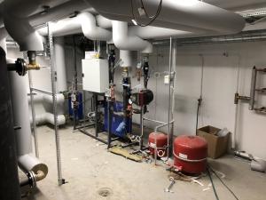 Image of heat exhanger, heat pump and energy meter